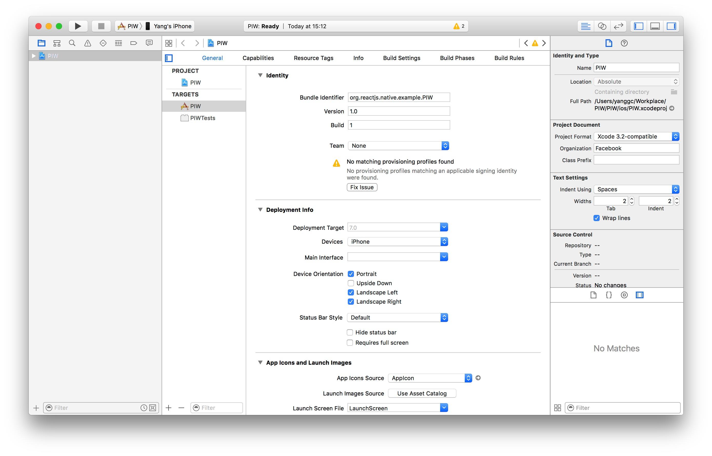 第一眼看到的xcode项目页面